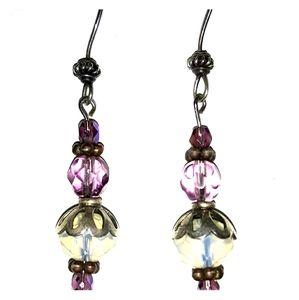 Ladies glass bead earrings